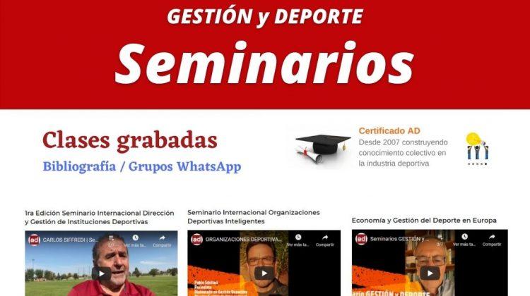 Seminarios GESTIÓN y DEPORTE 📚📖🔝